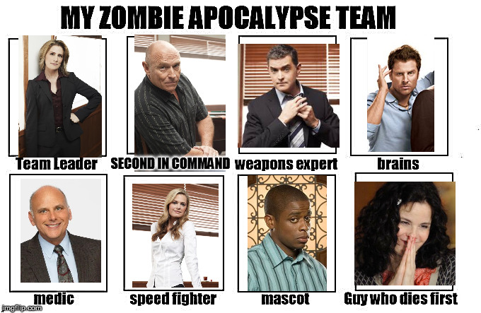 Calling all Psych-o's (psych fans) | SECOND IN COMMAND | image tagged in zombie apocalypse team,psych | made w/ Imgflip meme maker