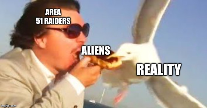 I don't need that kind of negativity | AREA 51 RAIDERS ALIENS REALITY | image tagged in swiping seagull,memes,area 51,oof | made w/ Imgflip meme maker