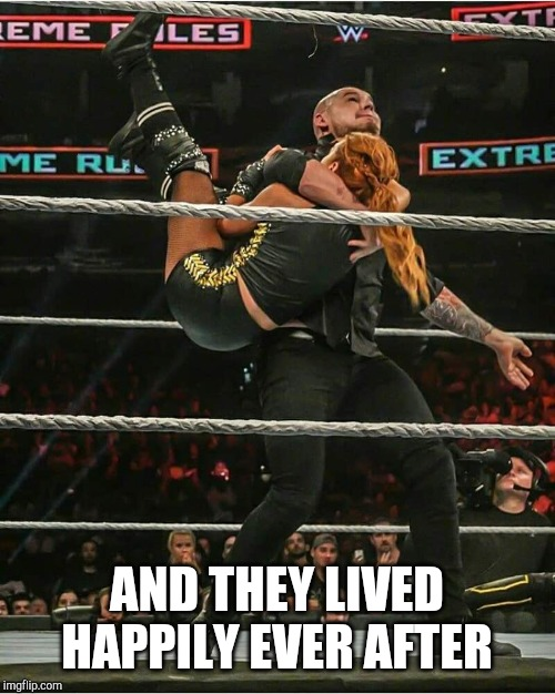 AND THEY LIVED HAPPILY EVER AFTER | image tagged in wwe,fairy tales,the end | made w/ Imgflip meme maker