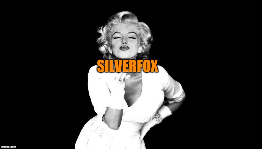 Marilyn Monroe blowing kisses | SILVERFOX | image tagged in marilyn monroe blowing kisses | made w/ Imgflip meme maker