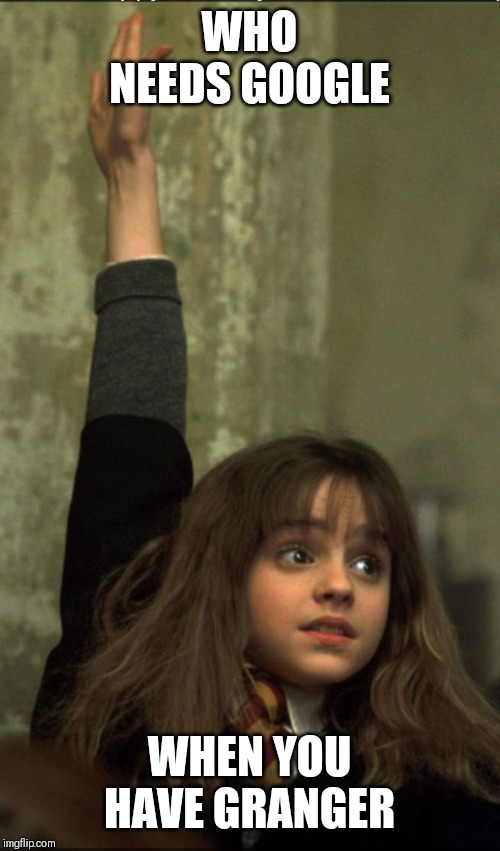Hermione Granger | WHO NEEDS GOOGLE WHEN YOU HAVE GRANGER | image tagged in hermione granger | made w/ Imgflip meme maker