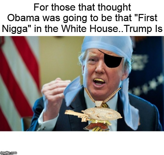 image tagged in trump first nigga in white house not obama | made w/ Imgflip meme maker