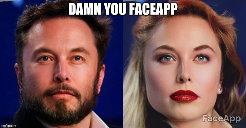 I went too far. | DAMN YOU FACEAPP | image tagged in elon musk,space,funny | made w/ Imgflip meme maker