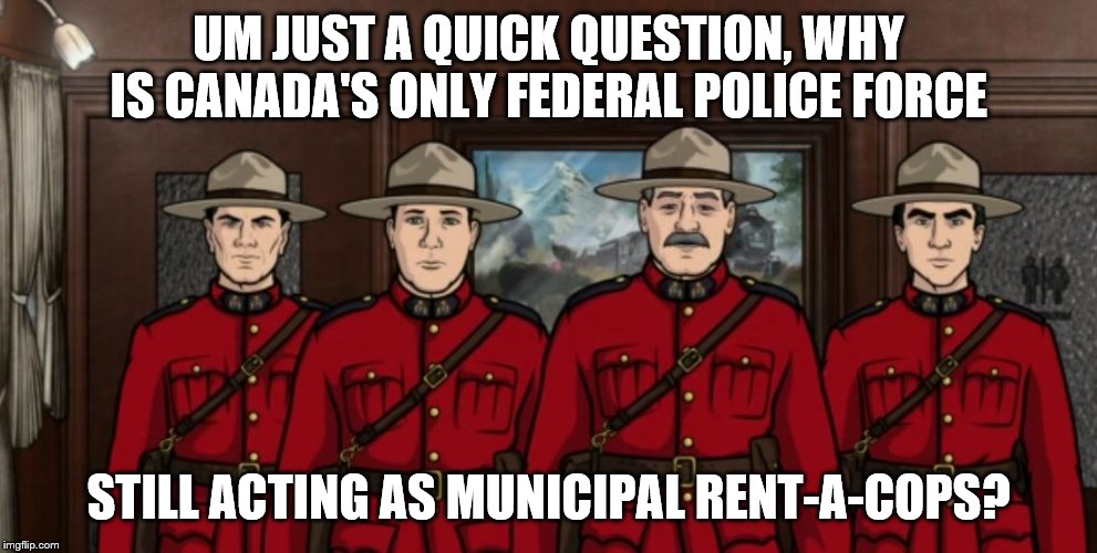 Image result for archer mounties gif