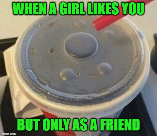 Hate when that happens!!! |  WHEN A GIRL LIKES YOU; BUT ONLY AS A FRIEND | image tagged in friend zoned,memes,no hole,funny,none for you,i don't like you in that way | made w/ Imgflip meme maker