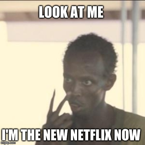 Look At Me | LOOK AT ME I'M THE NEW NETFLIX NOW | image tagged in memes,look at me | made w/ Imgflip meme maker