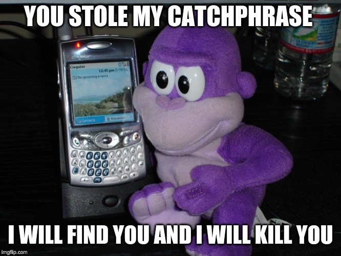 YOU STOLE MY CATCHPHRASE I WILL FIND YOU AND I WILL KILL YOU | made w/ Imgflip meme maker
