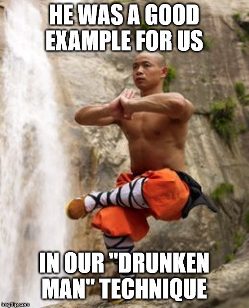 "Shaolin Meditation | HE WAS A GOOD EXAMPLE FOR US IN OUR ""DRUNKEN MAN"" TECHNIQUE 