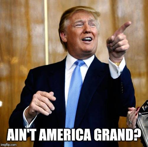 Donal Trump Birthday | AIN'T AMERICA GRAND? | image tagged in donal trump birthday | made w/ Imgflip meme maker