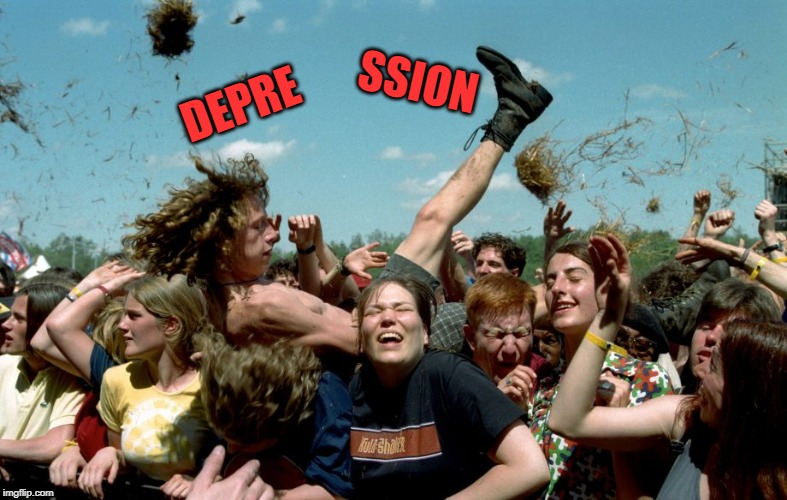DEPRE SSION | made w/ Imgflip meme maker