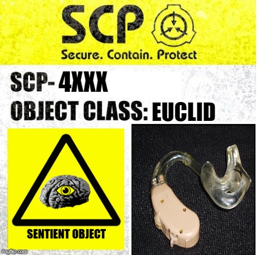 SCP Sign Generator | EUCLID 4XXX | image tagged in scp sign generator | made w/ Imgflip meme maker