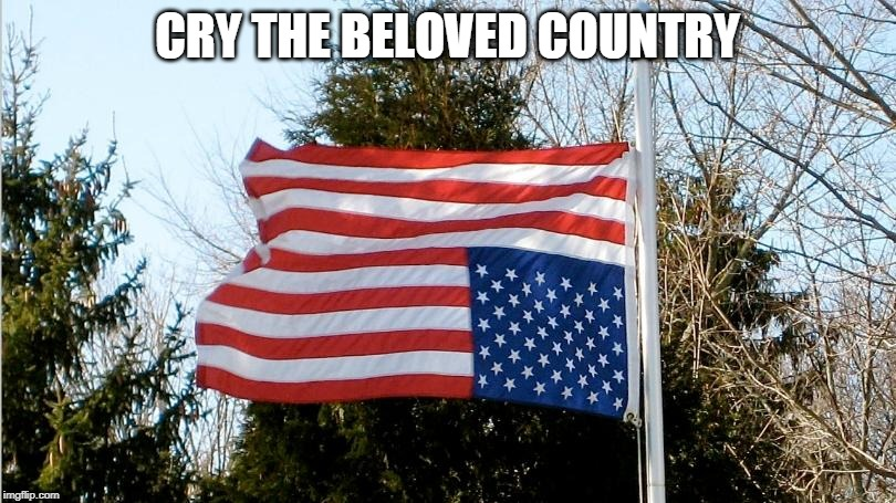 My country in distress | CRY THE BELOVED COUNTRY | image tagged in united states,trump,disaster,tragedy,the end | made w/ Imgflip meme maker