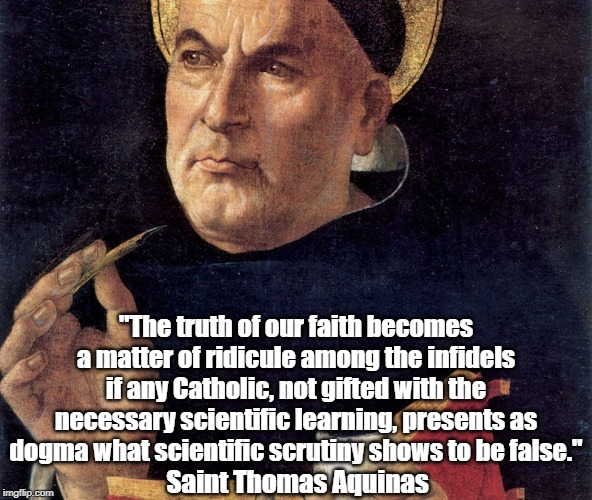 """""""The truth of our faith becomes a matter of ridicule among the infidels if any Catholic, not gifted with the necessary scientific learning,  