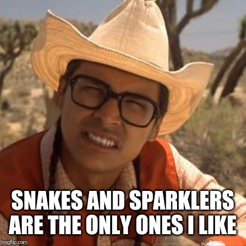 SNAKES AND SPARKLERS ARE THE ONLY ONES I LIKE | made w/ Imgflip meme maker