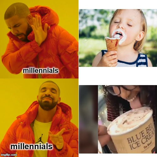 is there a cure for this stupidity? | millennials millennials | image tagged in memes,drake hotline bling | made w/ Imgflip meme maker
