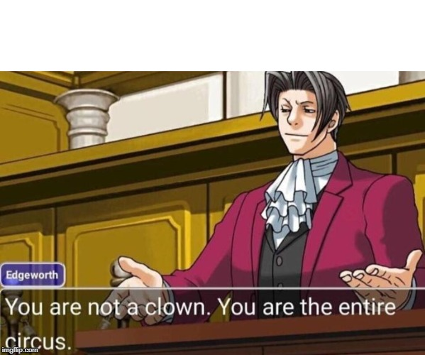 The Entire Circus | image tagged in phoenix wright,meme | made w/ Imgflip meme maker