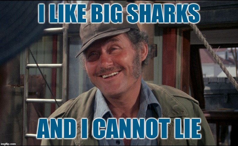 Baby Got Bait | I LIKE BIG SHARKS AND I CANNOT LIE | image tagged in quint from jaws,big butts,mashup,movies,lol so funny,sir mix alot | made w/ Imgflip meme maker