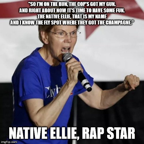 "Warren Rapping | ""SO I'M ON THE RUN, THE COP'S GOT MY GUN. AND RIGHT ABOUT NOW IT'S TIME TO HAVE SOME FUN. THE NATIVE ELLIE, THAT IS MY NAME AND I KNOW THE F 
