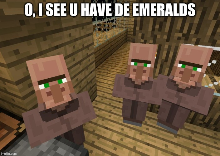 gaming minecraft villagers Memes & GIFs - Imgflip