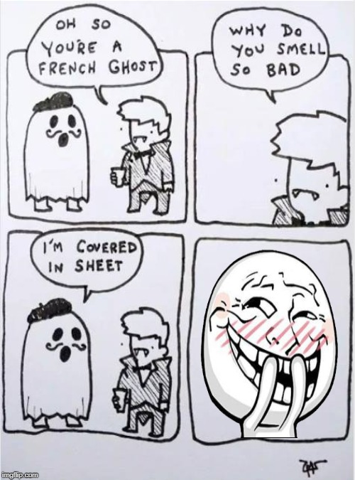French Ghost | image tagged in french ghost,memes,troll,funny,covered in sheet | made w/ Imgflip meme maker