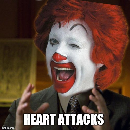 Alien McDonald's |  HEART ATTACKS | image tagged in alien mcdonald's | made w/ Imgflip meme maker