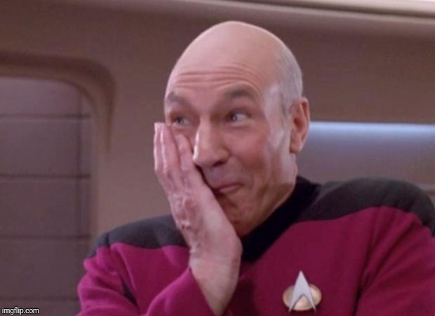 Picard smirk | image tagged in picard smirk | made w/ Imgflip meme maker