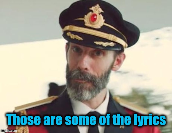 Captain Obvious | Those are some of the lyrics | image tagged in captain obvious | made w/ Imgflip meme maker