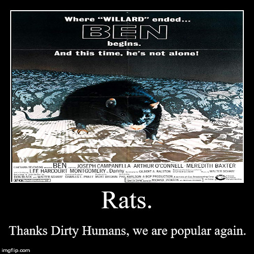 Ben 10 million... | Rats. | Thanks Dirty Humans, we are popular again. | image tagged in funny,demotivationals,ben,rats,democrats,dirty | made w/ Imgflip demotivational maker