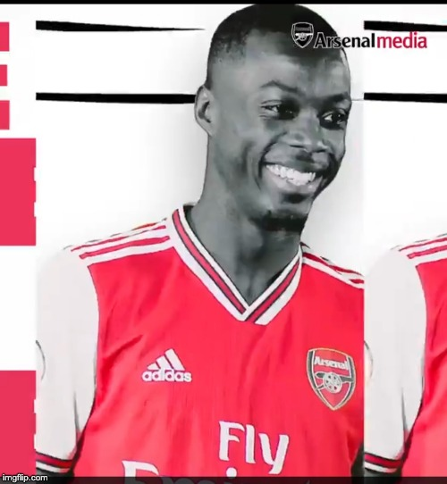 image tagged in pepe,arsenal,afc,nico,nicolas pepe | made w/ Imgflip meme maker