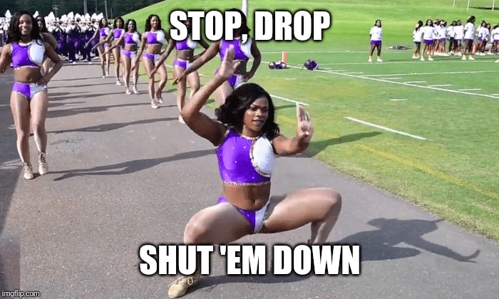 Me When I'm Dancing | STOP, DROP SHUT 'EM DOWN | image tagged in that's how ruff ryders roll,clubbing,safety dance,everywhere | made w/ Imgflip meme maker