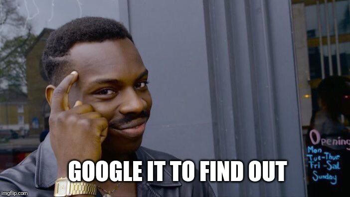 Roll Safe Think About It Meme | GOOGLE IT TO FIND OUT | image tagged in memes,roll safe think about it | made w/ Imgflip meme maker