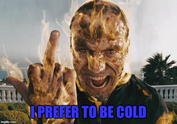 I PREFER TO BE COLD | made w/ Imgflip meme maker