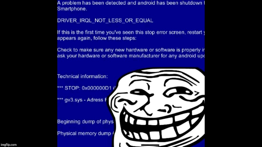 image tagged in bsod troll | made w/ Imgflip meme maker