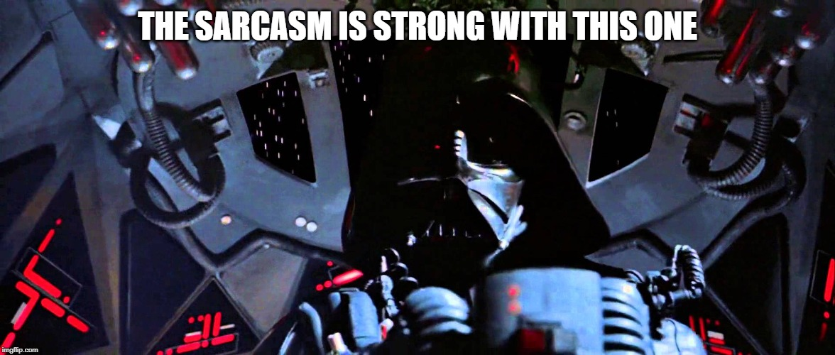 THE SARCASM IS STRONG WITH THIS ONE | image tagged in the force is strong with this one | made w/ Imgflip meme maker