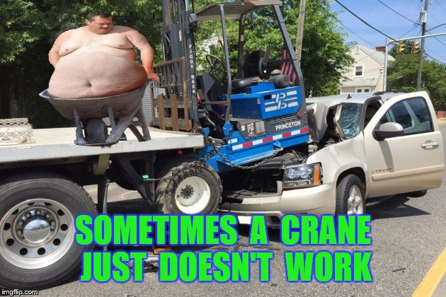SOMETIMES  A  CRANE  JUST  DOESN'T  WORK | made w/ Imgflip meme maker