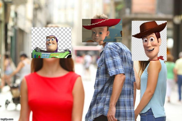 Distracted Boyfriend | image tagged in memes,distracted boyfriend,buzz and woody,toy story | made w/ Imgflip meme maker