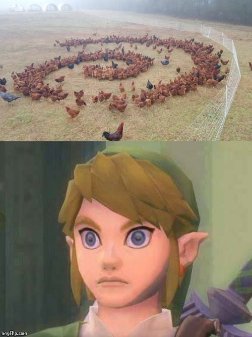 CHICKEN VORTEX! | image tagged in link,legend of zelda,gaming,video games,funny,memes | made w/ Imgflip meme maker