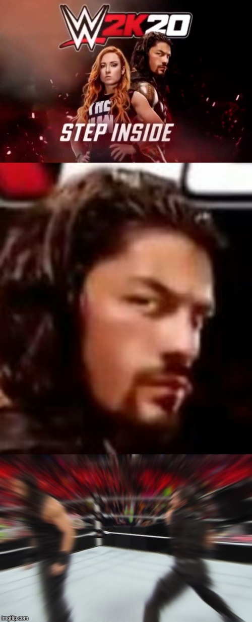 And the cover star for WWE 2K20 is... | image tagged in wwe,roman reigns,seth rollins,game | made w/ Imgflip meme maker