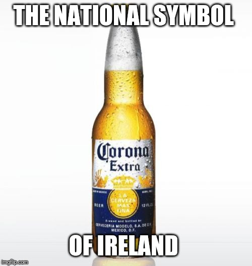 Corona | THE NATIONAL SYMBOL OF IRELAND | image tagged in memes,corona | made w/ Imgflip meme maker