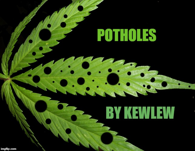Weed Art | POTHOLES BY KEWLEW | image tagged in weed,pot,photoshop | made w/ Imgflip meme maker