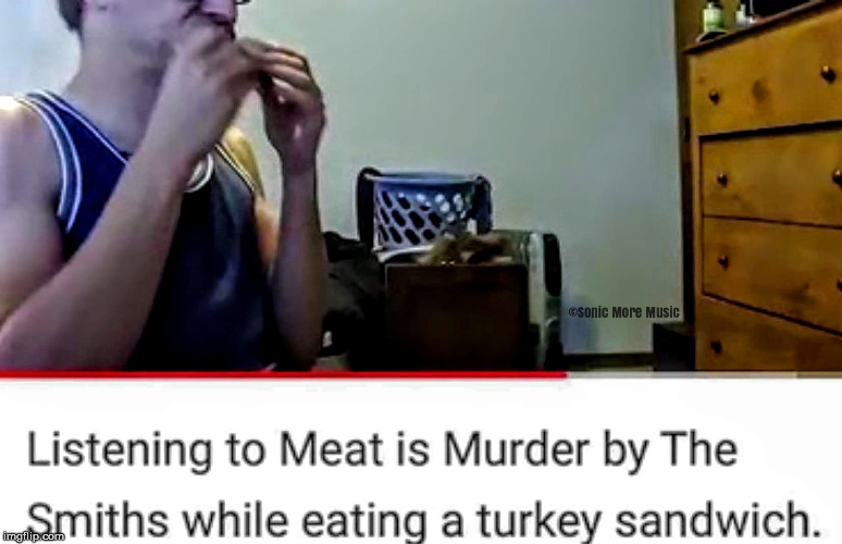 The Smiths | image tagged in the smiths,meat is murder,vegetarian,1980s,memes | made w/ Imgflip meme maker