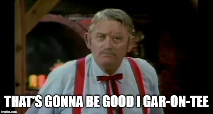 Justin Wilson | THAT'S GONNA BE GOOD I GAR-ON-TEE | image tagged in justin wilson | made w/ Imgflip meme maker