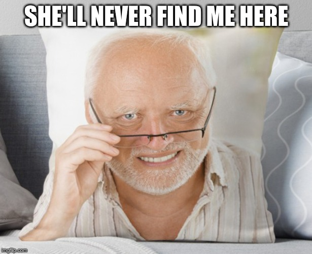 SHE'LL NEVER FIND ME HERE | made w/ Imgflip meme maker