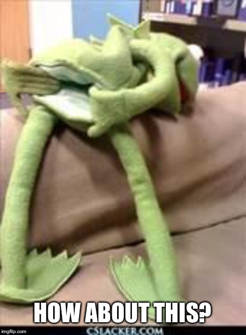 Gay kermit | HOW ABOUT THIS? | image tagged in gay kermit | made w/ Imgflip meme maker