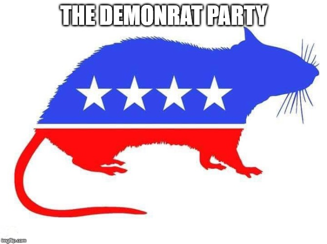 The Party of Death & Destruction! |  THE DEMONRAT PARTY | image tagged in dnc,rats,demons | made w/ Imgflip meme maker