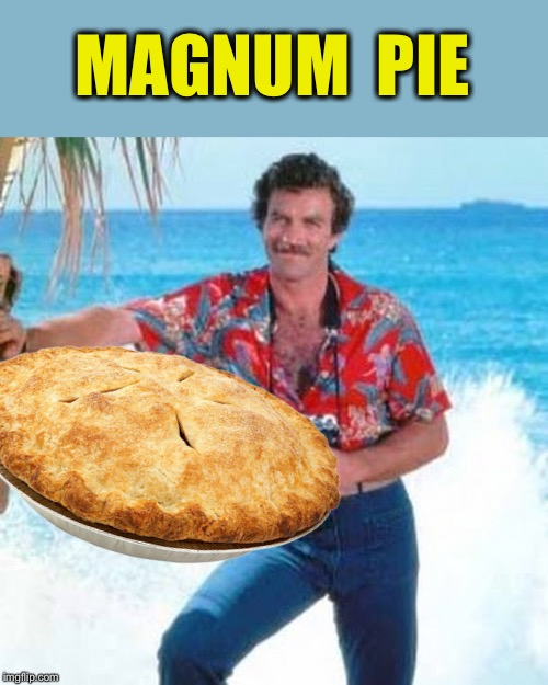 MAGNUM  PIE | image tagged in magnum pi | made w/ Imgflip meme maker