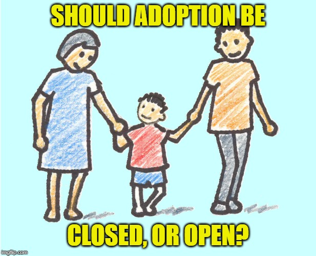 Parental respect | SHOULD ADOPTION BE CLOSED, OR OPEN? | image tagged in parental respect,adoption,closed,open,boundaries | made w/ Imgflip meme maker