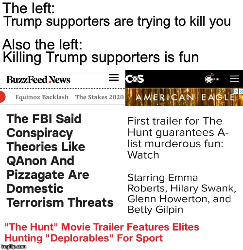 How to make a killer |  The left:; Trump supporters are trying to kill you; Also the left:; Killing Trump supporters is fun | image tagged in mk ultra,liberal logic,evil | made w/ Imgflip meme maker