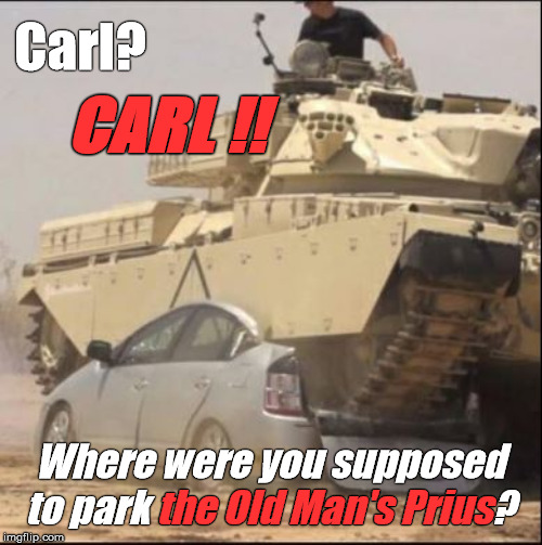 """Carl"" is the modern equivalent of Sad Sack. He is such a screw-up that ""WTF"" is both Carl's rank & his first & last names... 