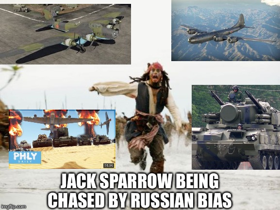 Jack Sparrow Being Chased Meme | JACK SPARROW BEING CHASED BY RUSSIAN BIAS | image tagged in memes,jack sparrow being chased | made w/ Imgflip meme maker
